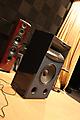 Оклейка профессиональных аудио-колонок в черный ультра-металлик (алмазная крошка)
