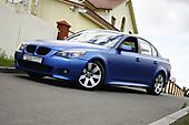 Оклейка в синий матовый металлик BMW 5 e60